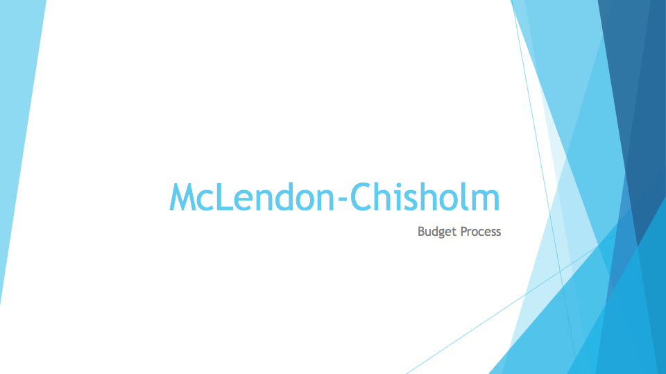 McLendon-Chisholm Budget Presentation by Council Member Turnbull July 18, 2017