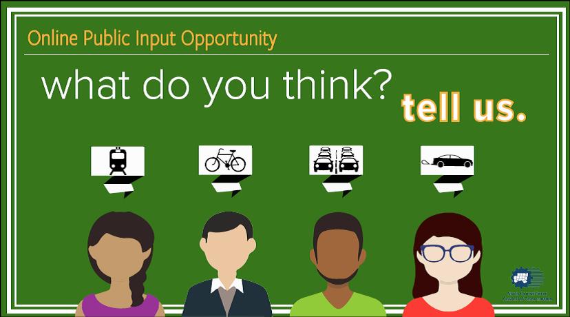 Transportation Online Input Opportunity