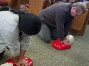 Brenda Gonzalez and Larry Reynolds CPR Training