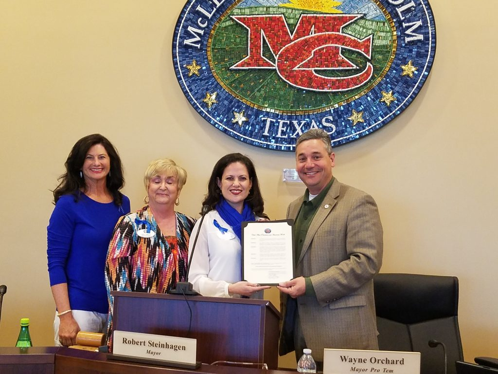 Patricia Mejia Received A Recognition Proclamation of Support for The Children's Advocacy Center for Rockwall County
