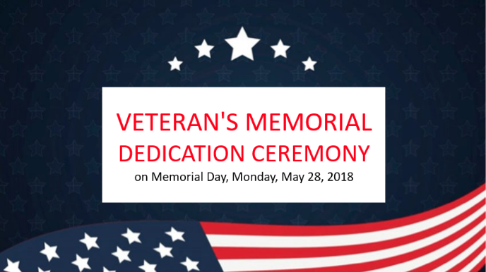 Veteran's Memorial Ceremony on Memorial Day 2018