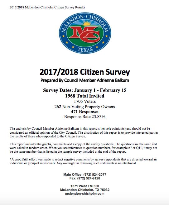 2017/2018 Citizen Survey