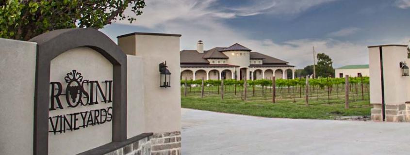 Rossini Vineyards Entrance